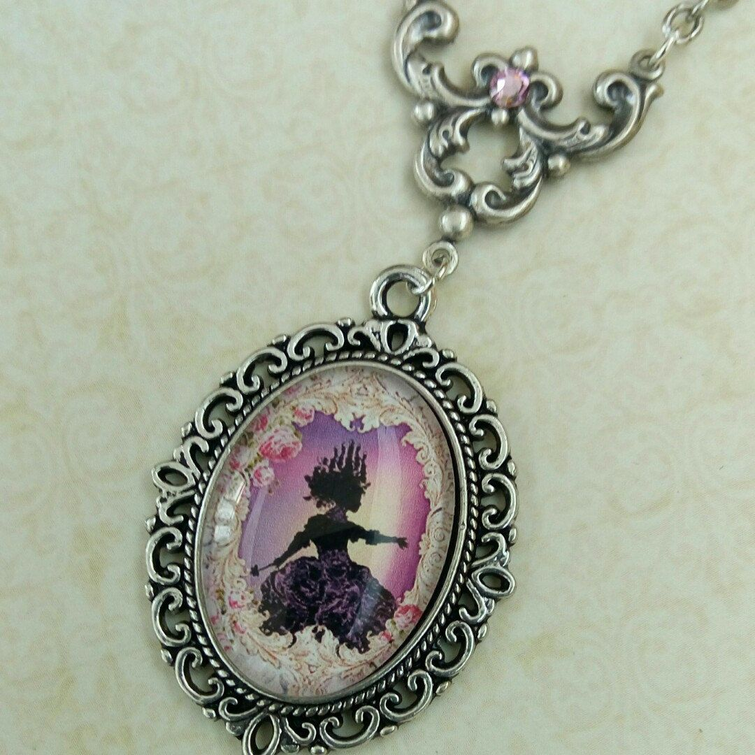 New: Princess necklace in pink silver