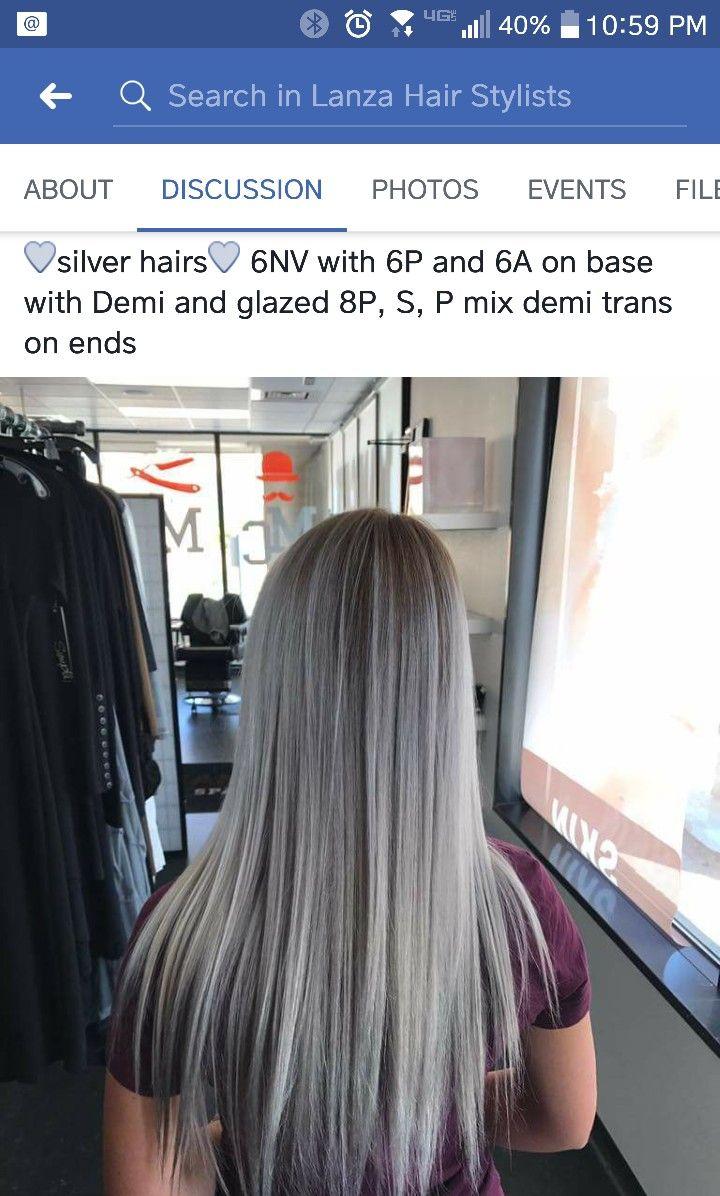 Pin By Cindy Medina On Lanza Formulas Lanza Hair Color Hair Color Formulas Long Gray Hair