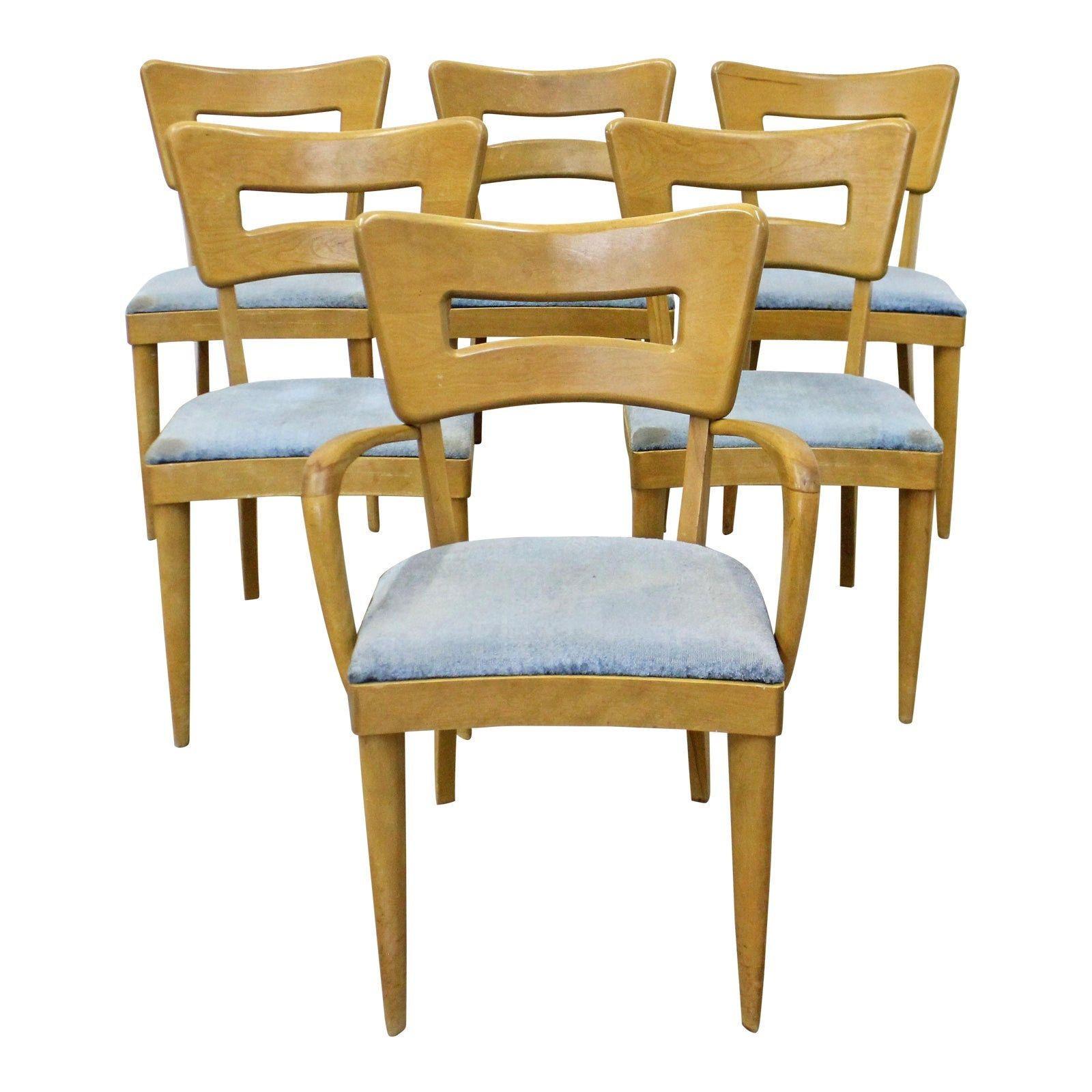 Heywood Wakefield Dining Chairs Set Of 6 Mid Century Modern
