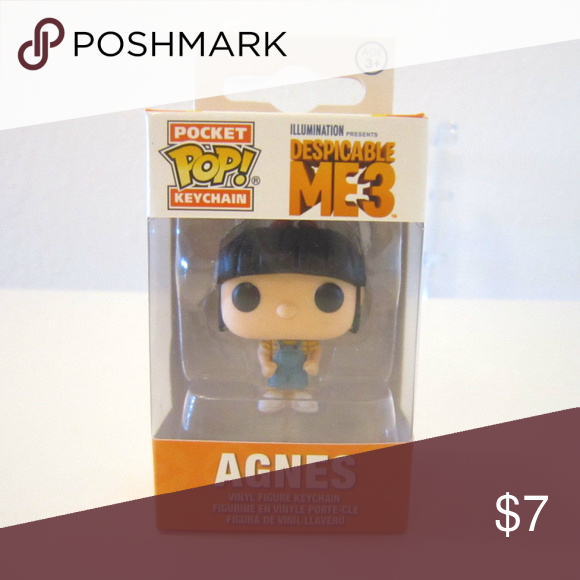 DESPICABLE ME 3// FUNKO POP POCKET KEYCHAIN AGNES  IN BOX