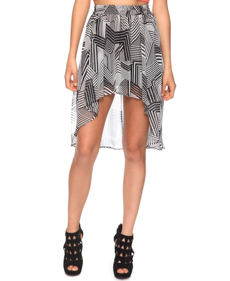 About to get this. High-Low Abstract Geo Skirt