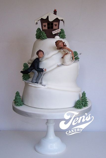 Ski slope wedding cake by Jen's Cakery, via Flickr