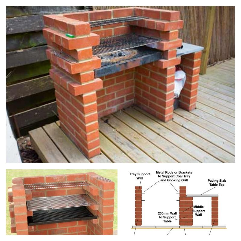 how to build your own brick bbq for your backyard that 39 s clever pinterest barbecue. Black Bedroom Furniture Sets. Home Design Ideas