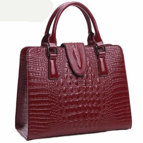 2017 crocodile pattern Women Genuine Leather messenger bags handbags women