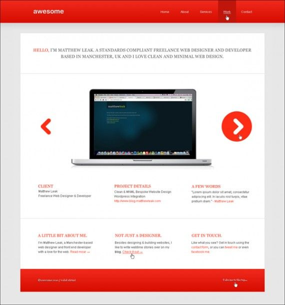 10 Easy To Follow Psd To Html Css Tutorials Minimal Website Design Minimal Web Design Web Design