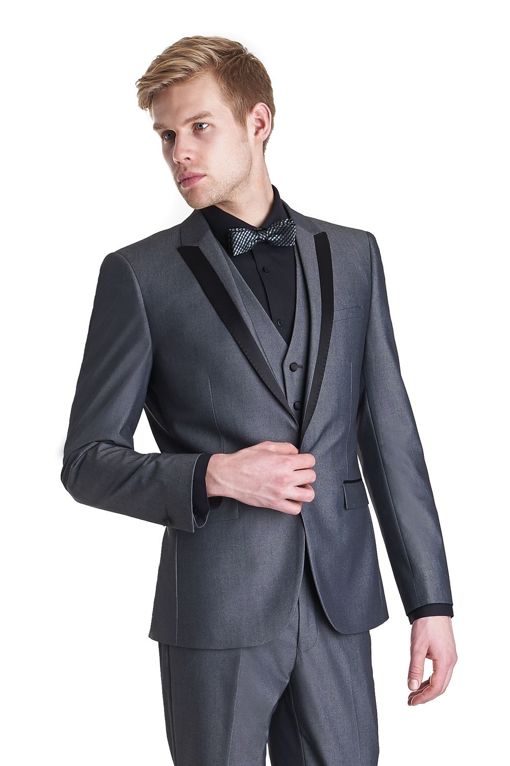 dark grey tux with black shirt - Google Search | Wedding Ideas ...