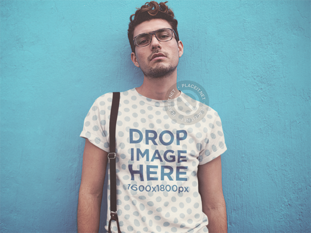 Download Placeit Sublimated T Shirt Mockup Of A Hipster Guy Wearing Suspenders Shirt Mockup Clothing Mockup T Shirt