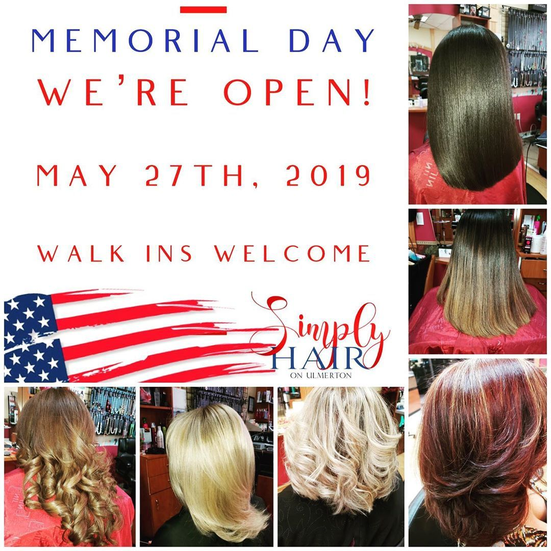 Off Today Visit The Original Simply Hair For Quality Salon Hair Care Before Your Memorial Day Festivities Wal Tampa Hair Stylist Hair Care Hair Salon