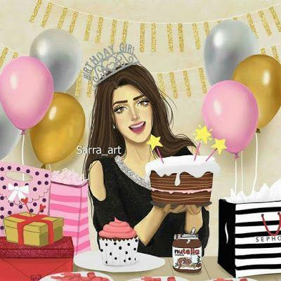 اجمل صور اعياد الميلاد 2018 تورتة عيد ميلاد فيس بوك Sarra Art Happy Birthday Drawings Birthday Cartoon