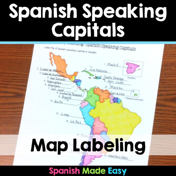 This is a map labeling activity over the 21 spanish speaking this is a map labeling activity over the 21 spanish speaking capitals students will gumiabroncs Gallery