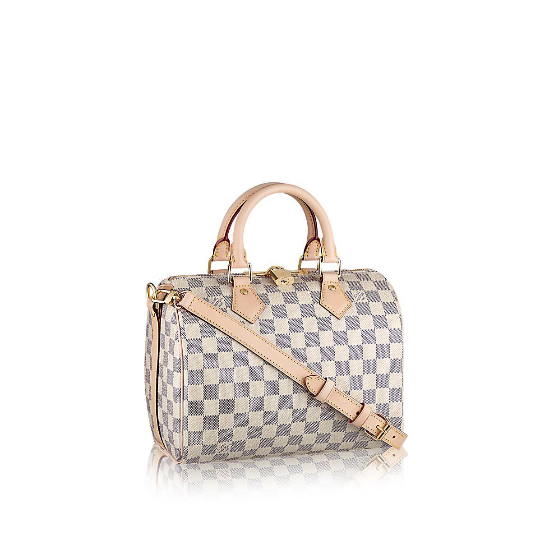 Speedy Bandoulière 25 Damier Azur Canvas in Women's Handbags  collections by Louis Vuitton