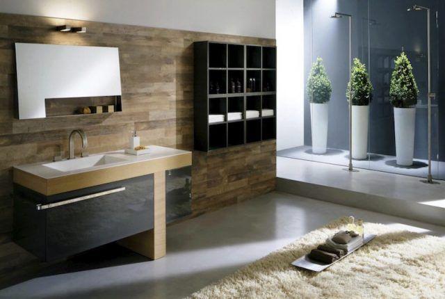 Revêtements et meubles salle de bain bois massif et placage naturel