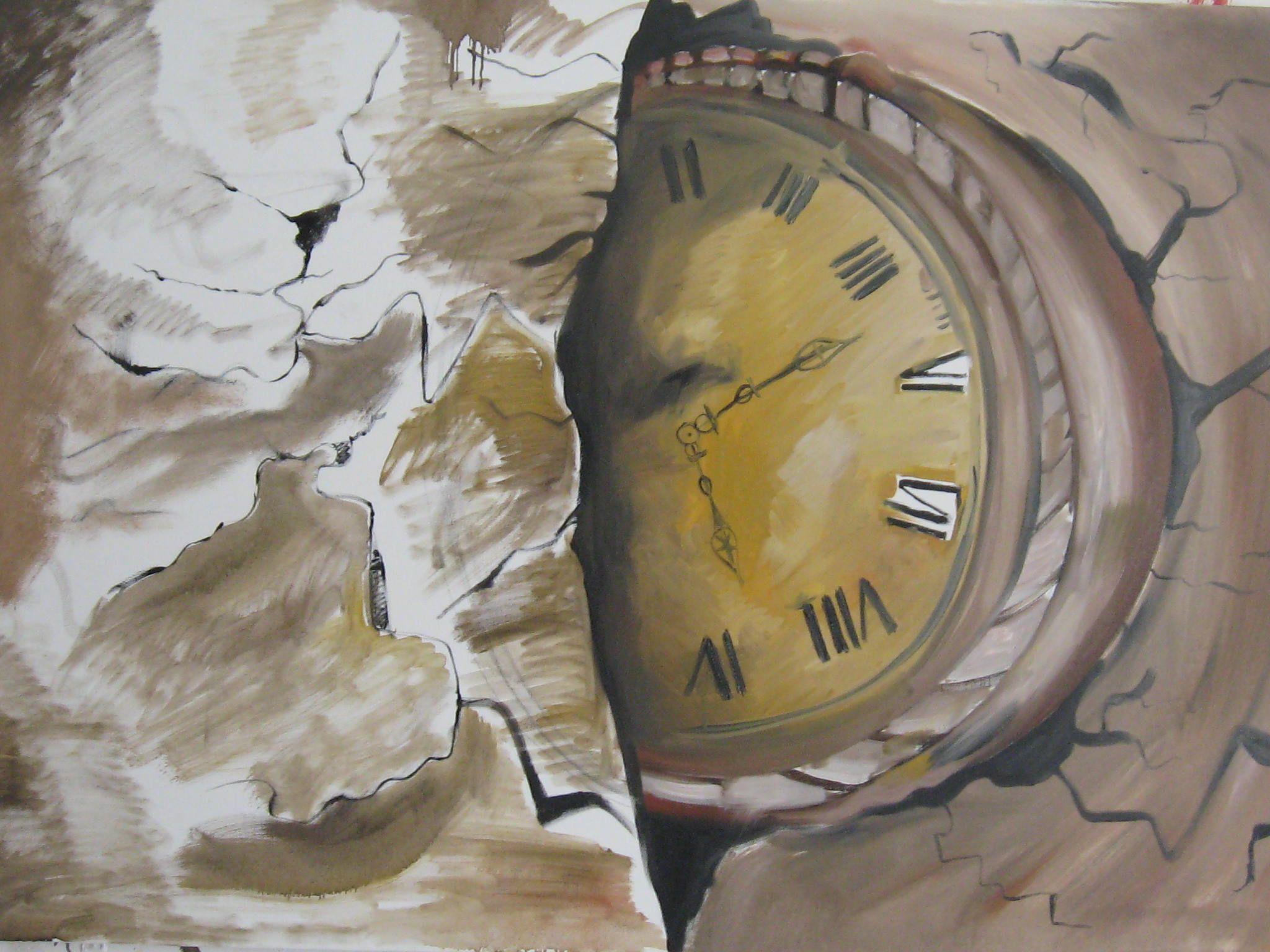 L'ineluttabilità del tempo - olio su tela 120x80 -