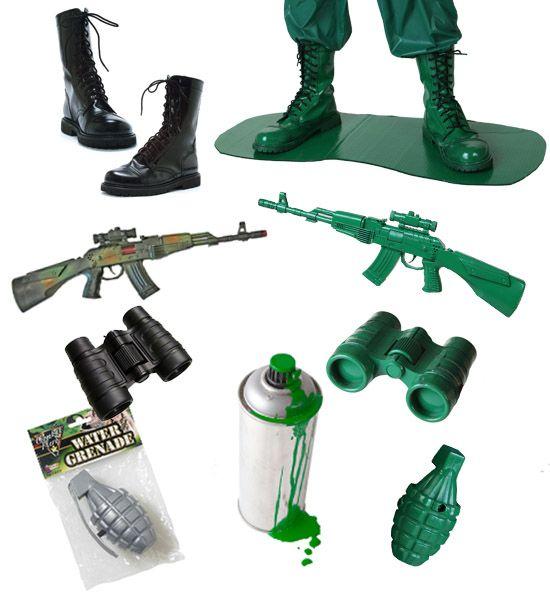 f06302e9ae2 DIY Green Army Man Costume   Halloween   Army men costume, Toy ...