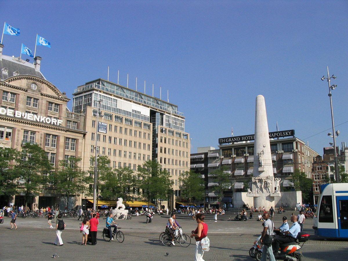 ساحة دام Dam Square وتوجد في أمستردام عاصمة هولندا I Amsterdam Dam Square Amsterdam
