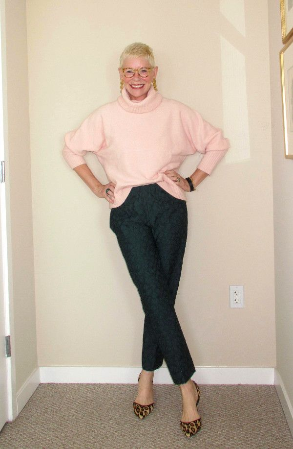 What Jeanne Wore: Pink Turtleneck and Lace Pants - Two Take on ...