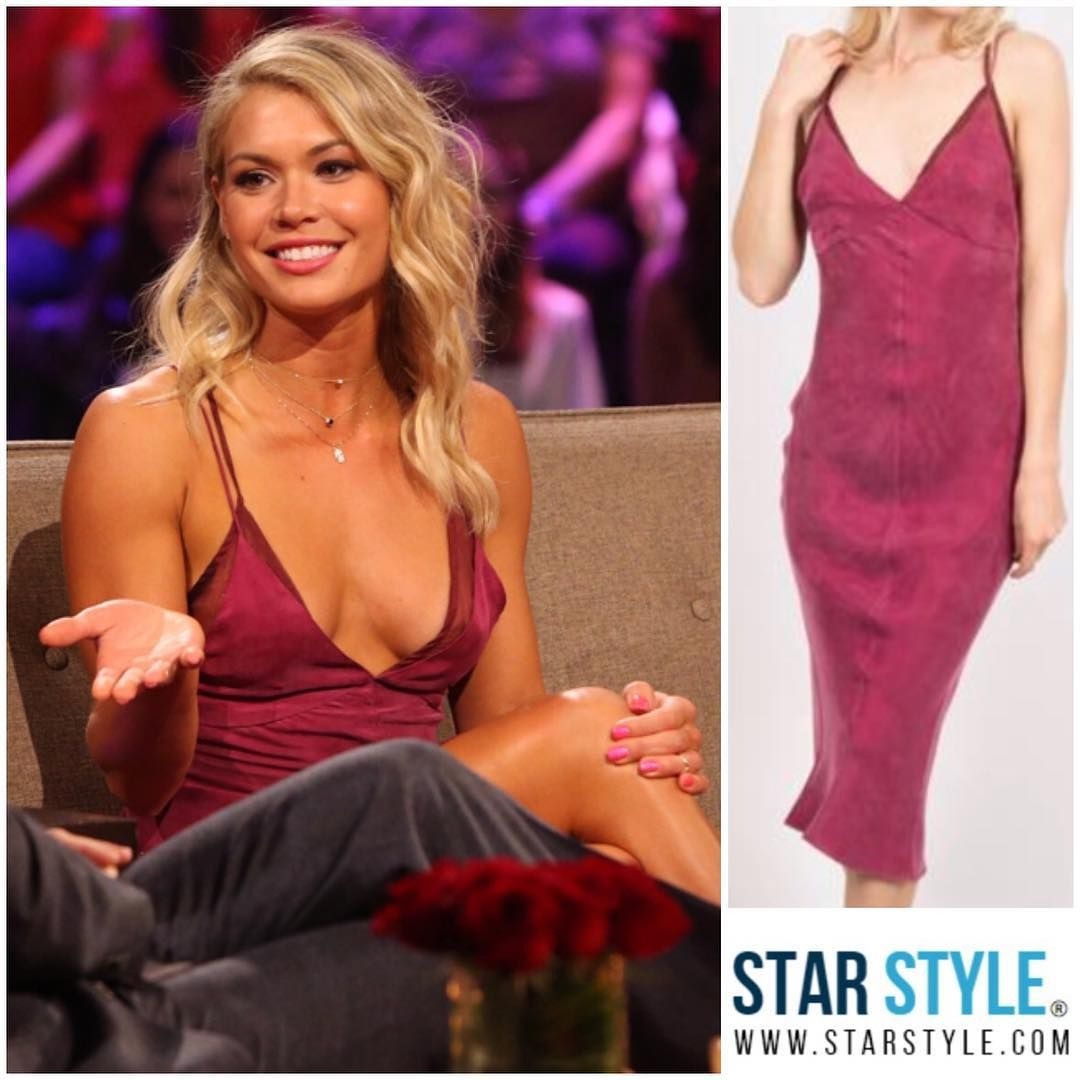 Krystal Nielson Wearing A Third Form Dress On The Bachelor The