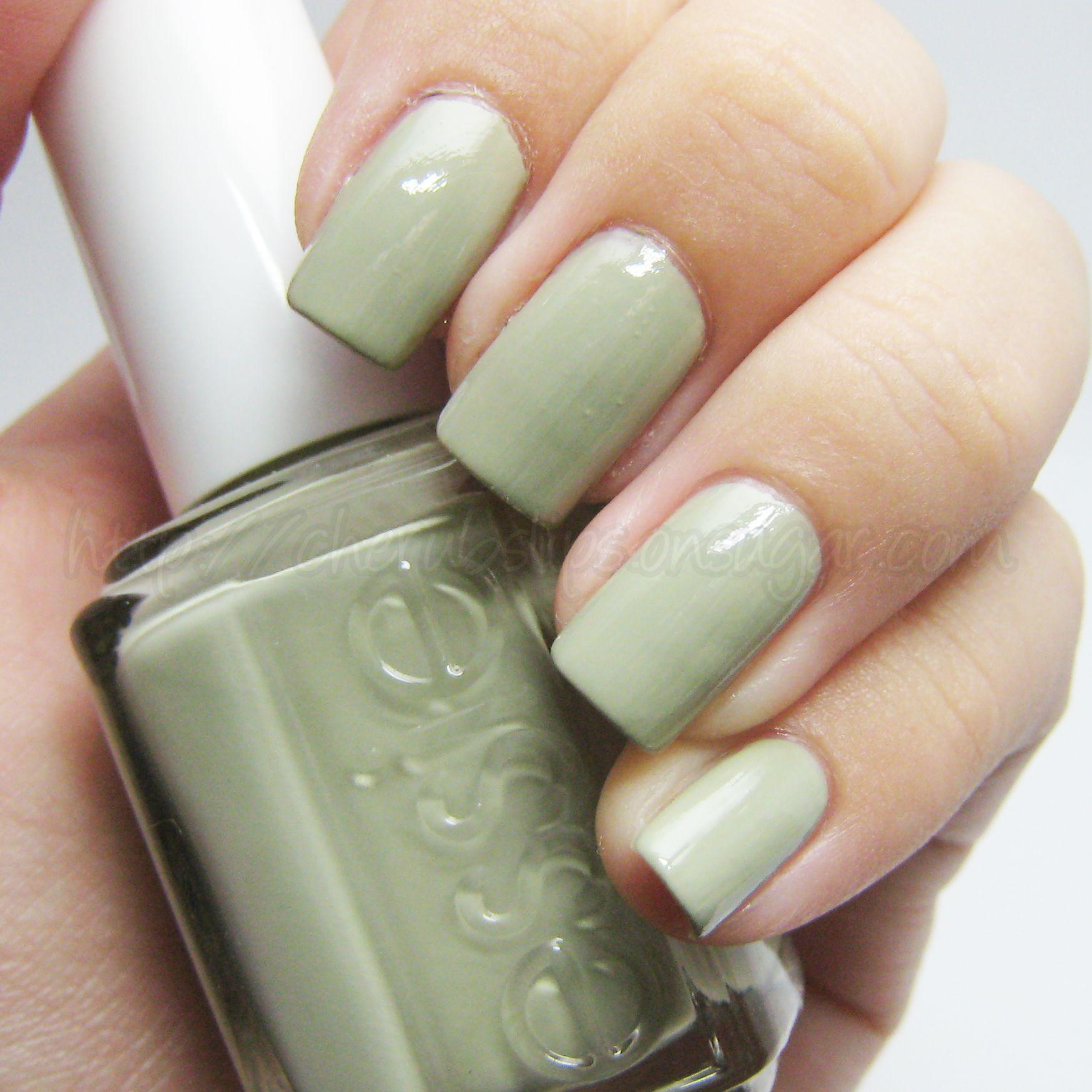 Essie Light Green Color Nail Polish Green Toe Nails Green Nails Light Colored Nails
