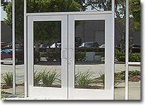 Commercial Glass Double Entry Doors With Stainless Steel Frames