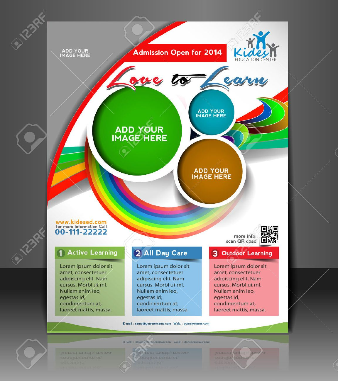 Flyer Template School Images Stock Pictures Royalty Free Flyer