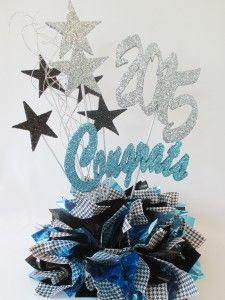 """""""Class of"""" Centerpiece with fabric scraps and star pokes #DIY"""