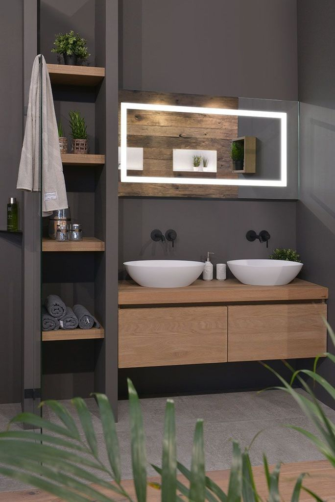 Photo of 40 Tips to Upgrade Small Bathroom Decor with Wooden Storage