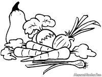 Belajar Mewarnai Gambar Sayur Mayur Untuk Anak Paud Tk Sd