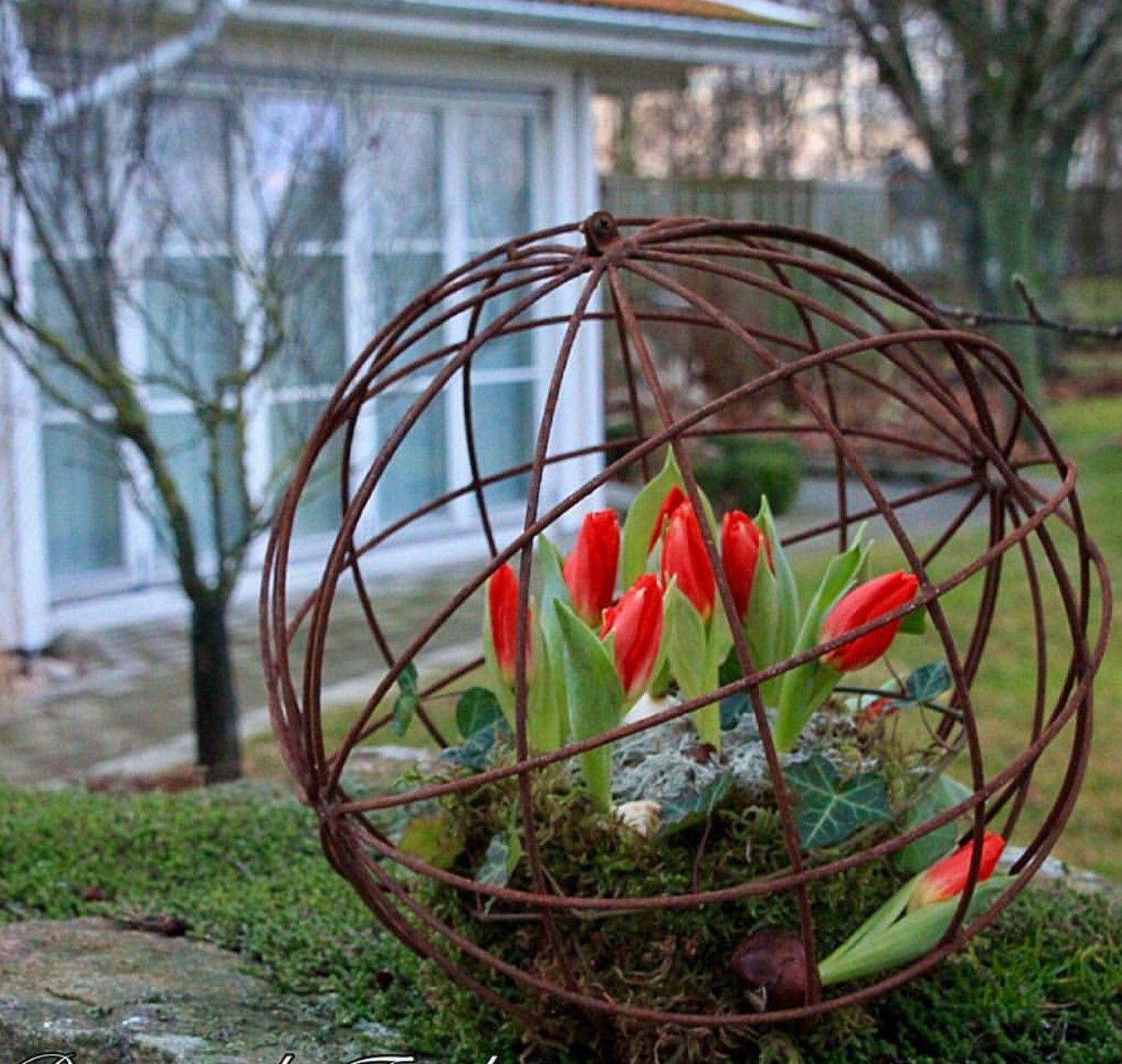 Tuteur Boule Pivoine Deco Jardin Astuce Jardin Jardins