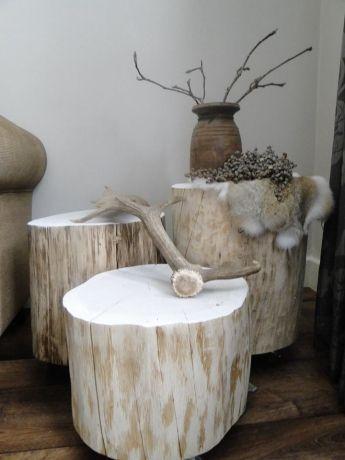 We maken het gewoon gezellig in huis boomstam meubels for Huis gezellig maken