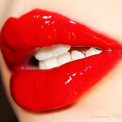 Take A Bite Out Of These Delicious Red Glossy Lips Simply Use A