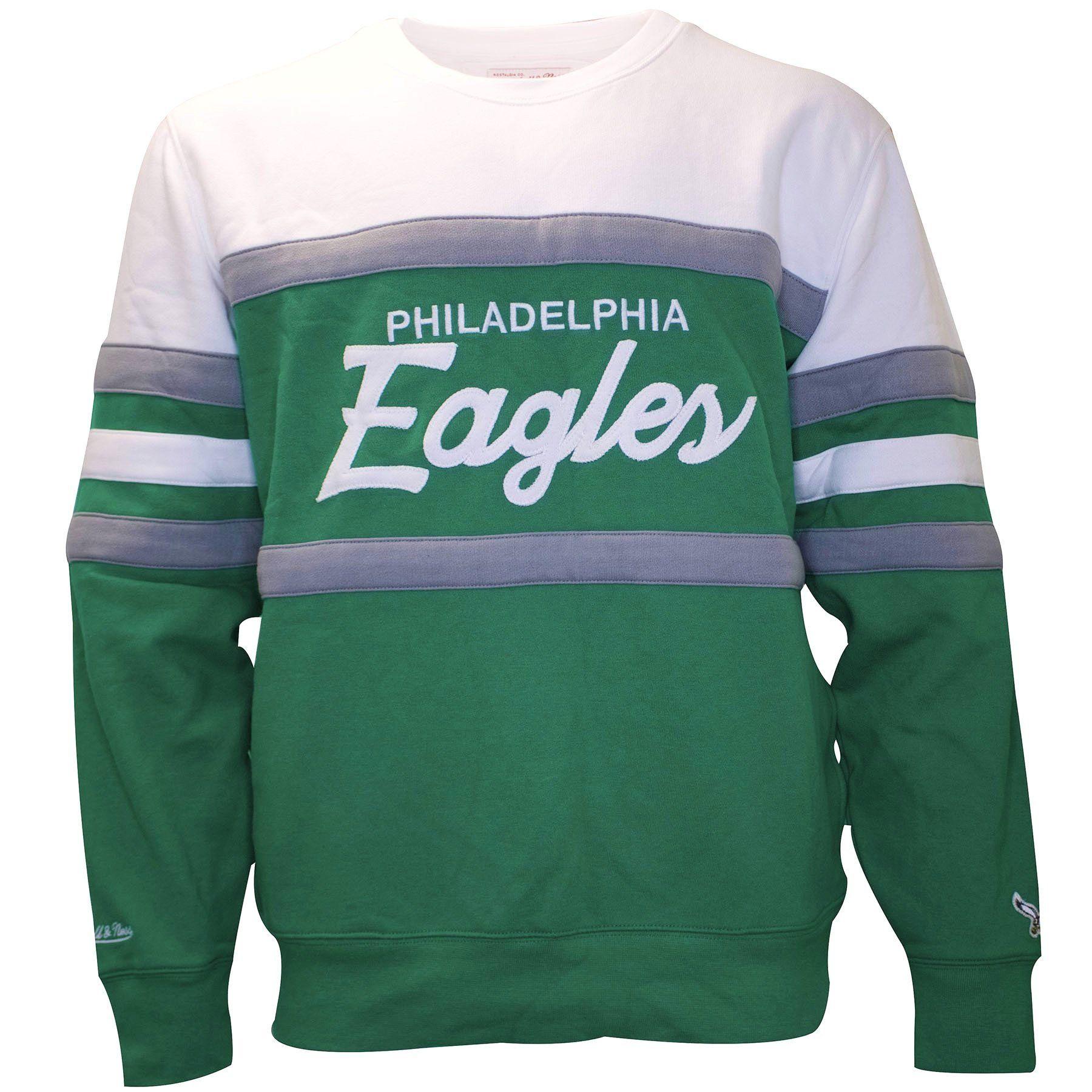 Philadelphia Eagles Vintage Logo Kelly Green Crewneck Sweater ... 5fd04fa1e