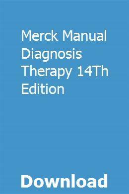 Merck Manual Diagnosis Therapy 14Th Edition | Merck manual ...