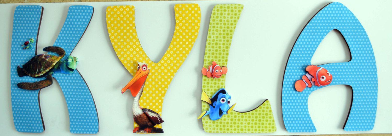 Disney\'s Finding Nemo Nursery Custom Letters by LewisCourt, $21.50 ...