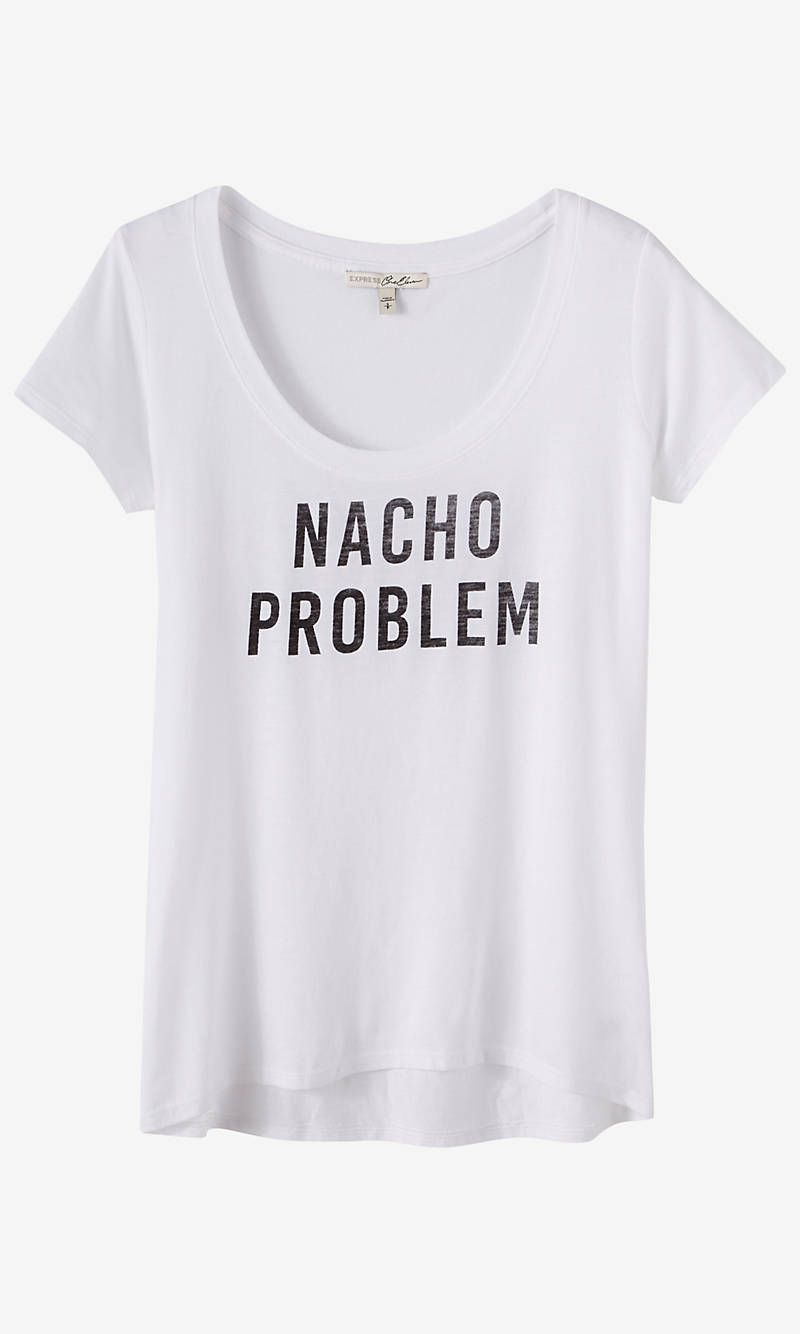 White t shirt express - Express One Eleven Nacho Graphic T Shirt Express