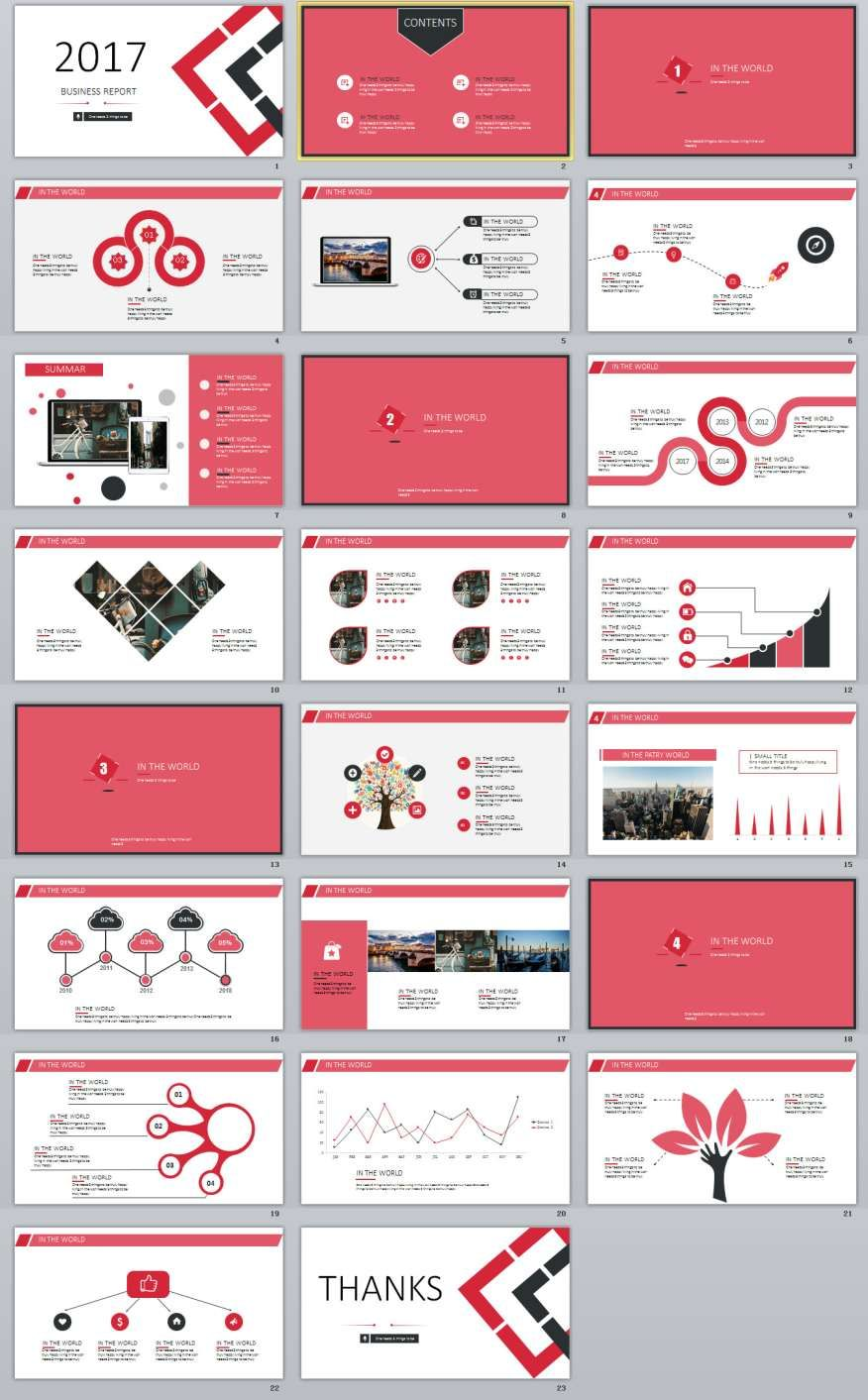 Red Business Report Powerpoint Templates  Powerpoint