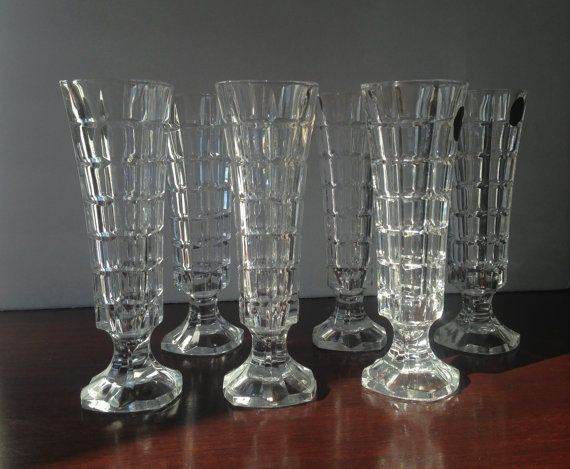 Cristal Darques France Genuine Lead Crystal Vase.6 Vintage French Crystal Vase Set Cristal D Arques Genuine 24