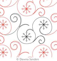 Digital Quilting Design Twinkling Snowflakes by Dawna Sanders ... : snowflake quilting design - Adamdwight.com