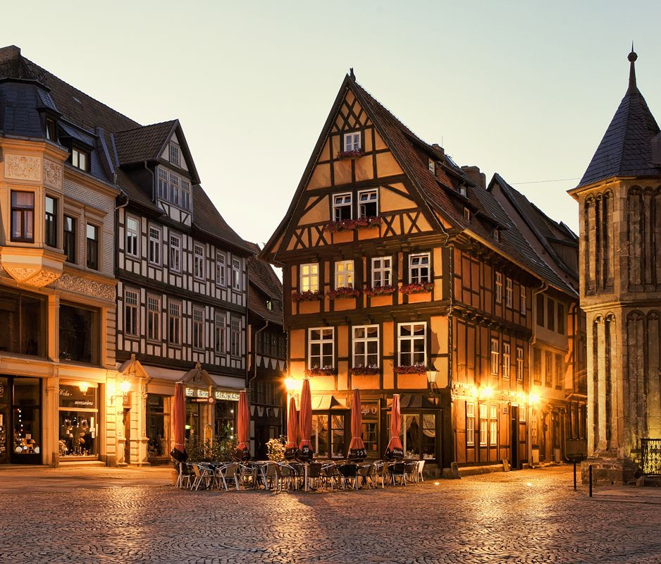 Quedlinburg is a town located north of the Harz mountains