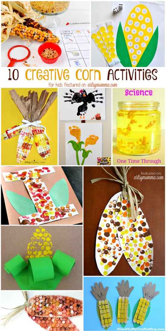 10 Creative Corn  Painting, Math Science, & Crafts