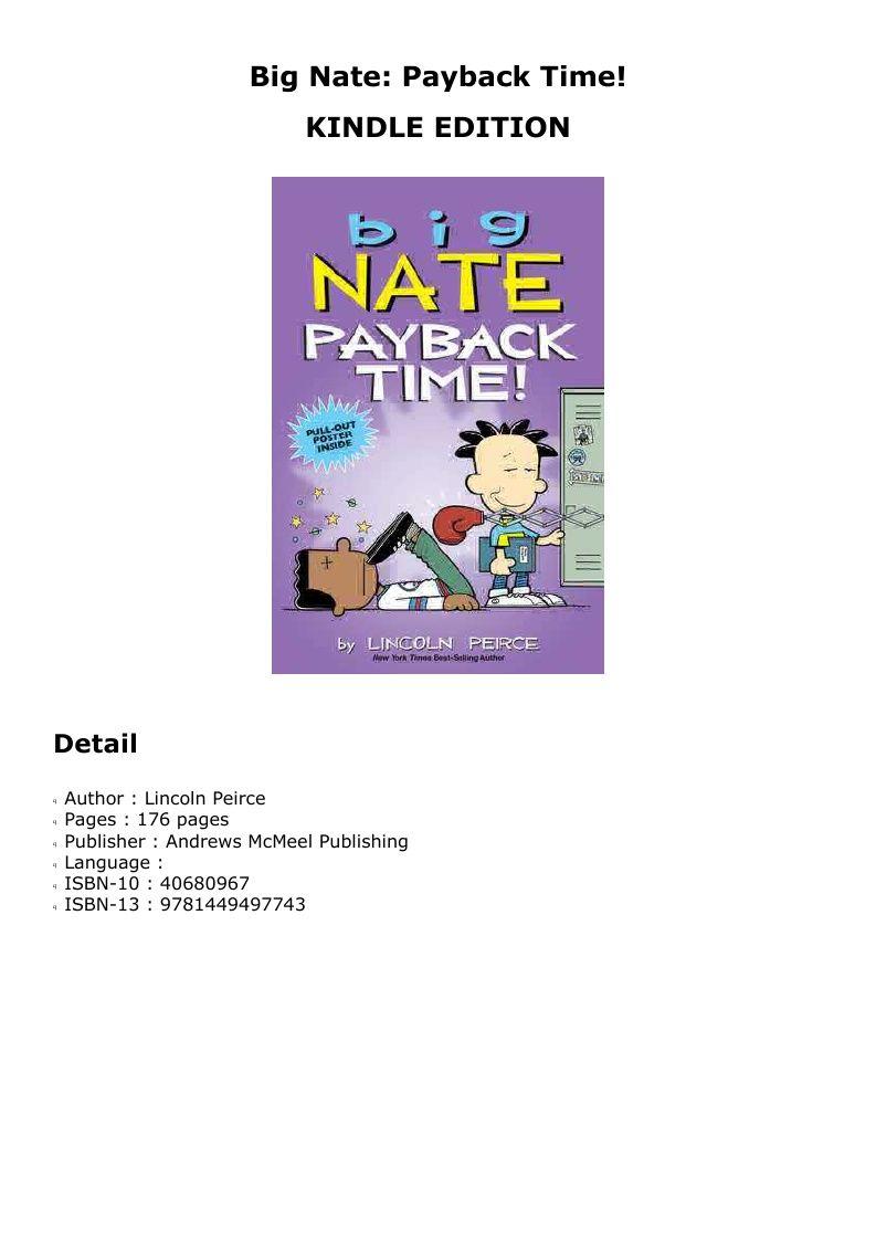 Epub big nate payback time payback author publishing