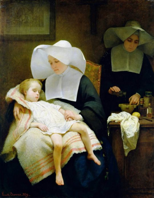 Old Paintings The Sisters of Mercy, 1859 by Henriette Browne (French, 1829–1901)