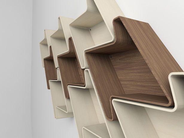 pied-de-poule modular wall shelf systemjulia quancard | mob