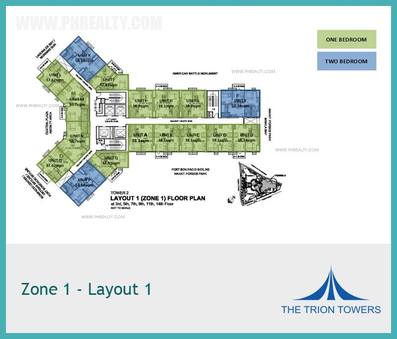 The Trion Towers Tower 2 Zone 1 Layout 1 Bonifacio Global