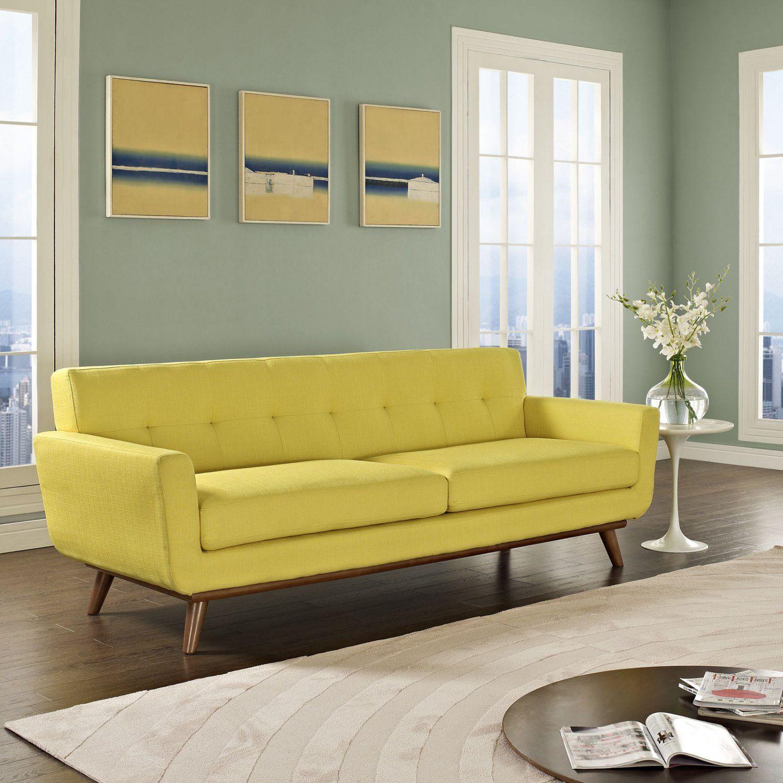 modern pablo sofa lemon yellow  yellow sofa living room