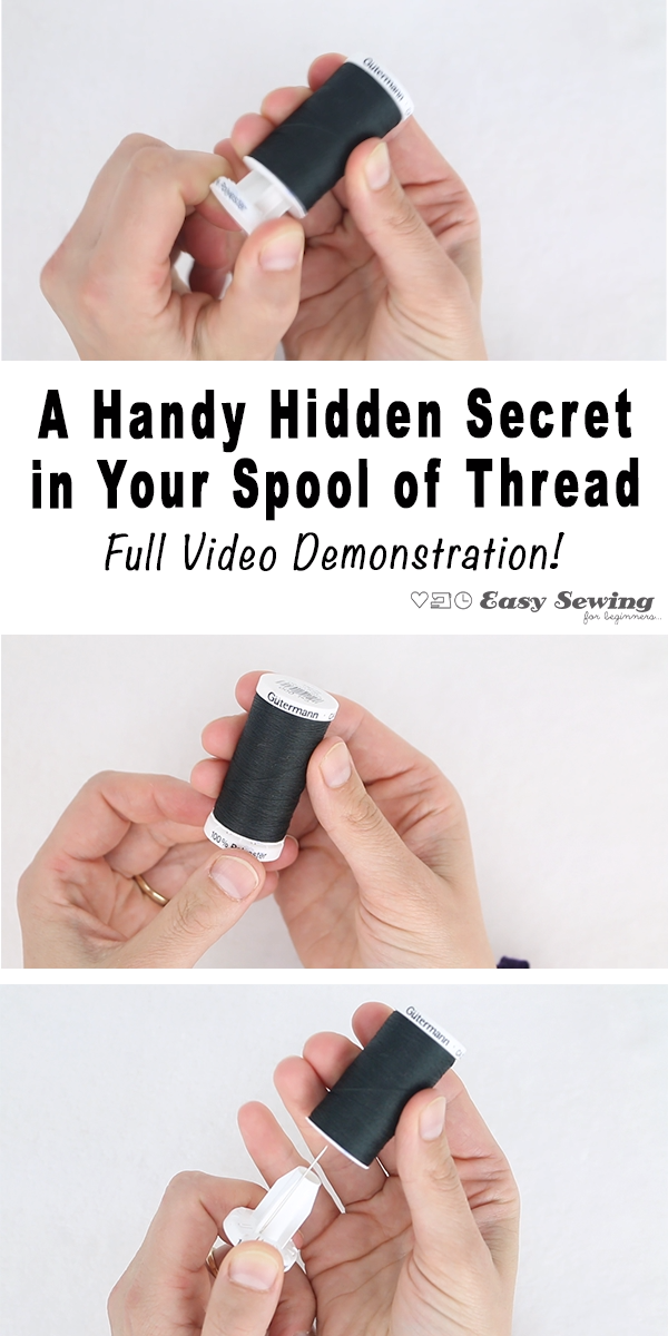Photo of A Handy Hidden Secret in Your Spool of Thread