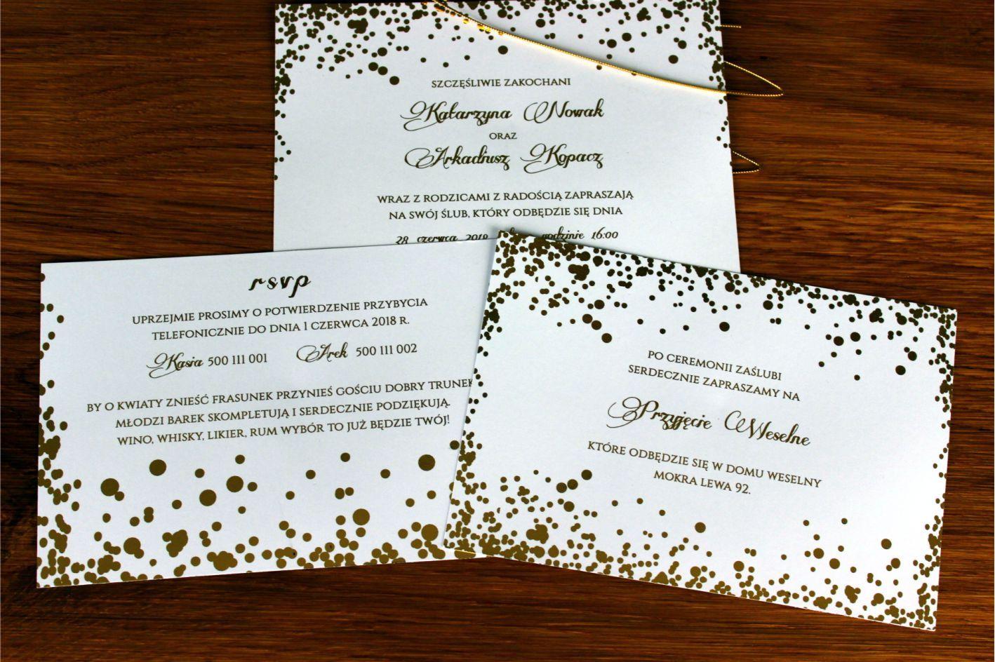 Pin By Anna Bazarkowska On Zaproszenia Slubne Event Event Ticket Gold