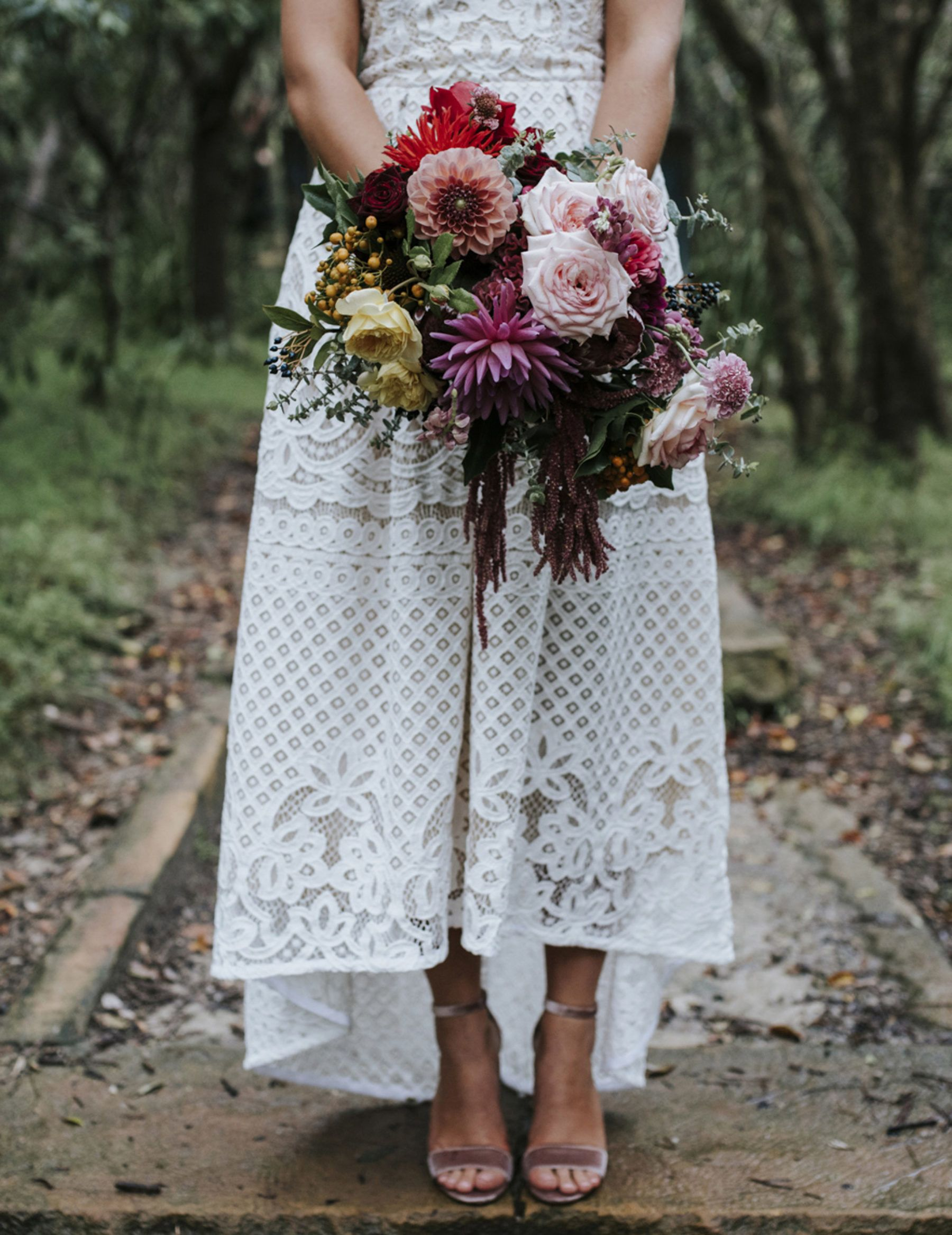 Best of 2017: bouquets | mixed pink rose and dahlia