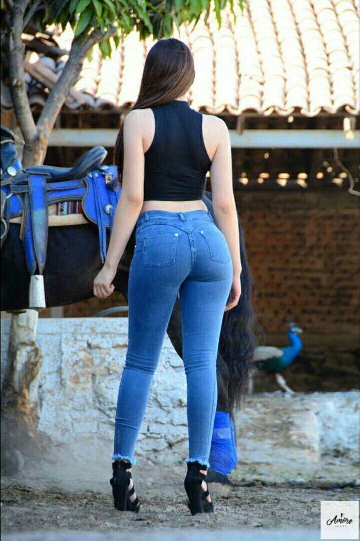 Big Ass Tight Jeans Public