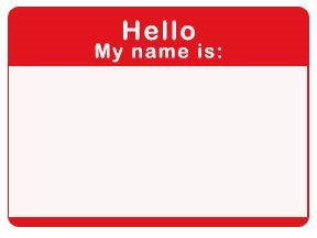 Printable Name Tag Craft W Paper For School