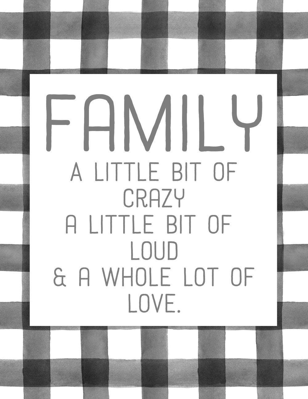 image regarding Free Printable Quotes and Sayings identified as Totally free Farmhouse Style and design Buffalo Observe Loved ones Printables Produce